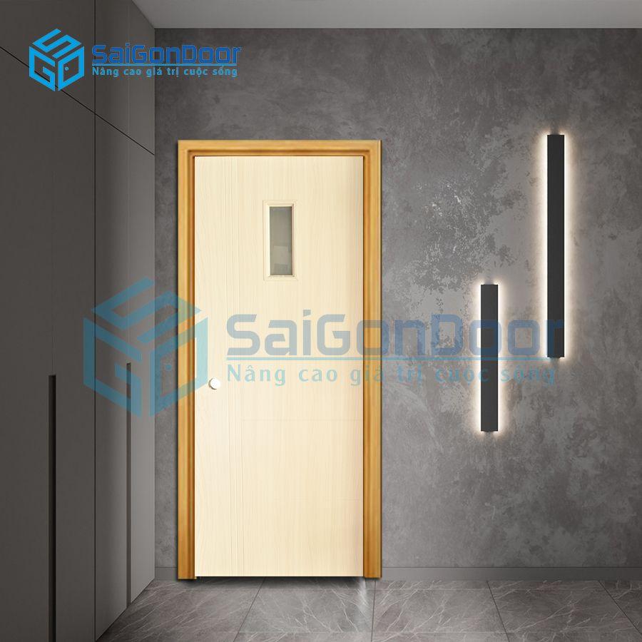 Cửa nhựa phòng ngủ cách âm SYB.455-B01
