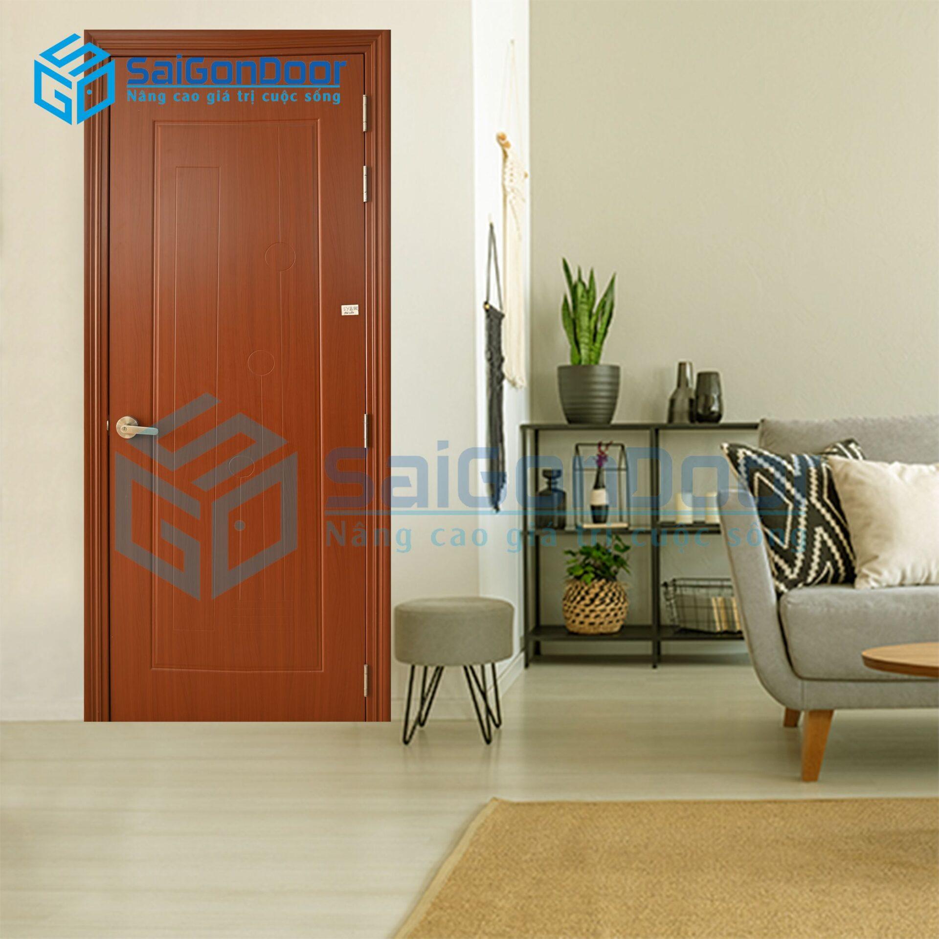 Mẫu cửa nhựa Composite phòng ngủ cách âm SYB.551-B07