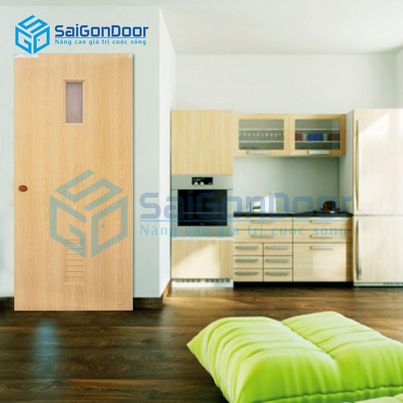 Mẫu cửa nhựa Composite phòng ngủ cách âm SYB.656-B06