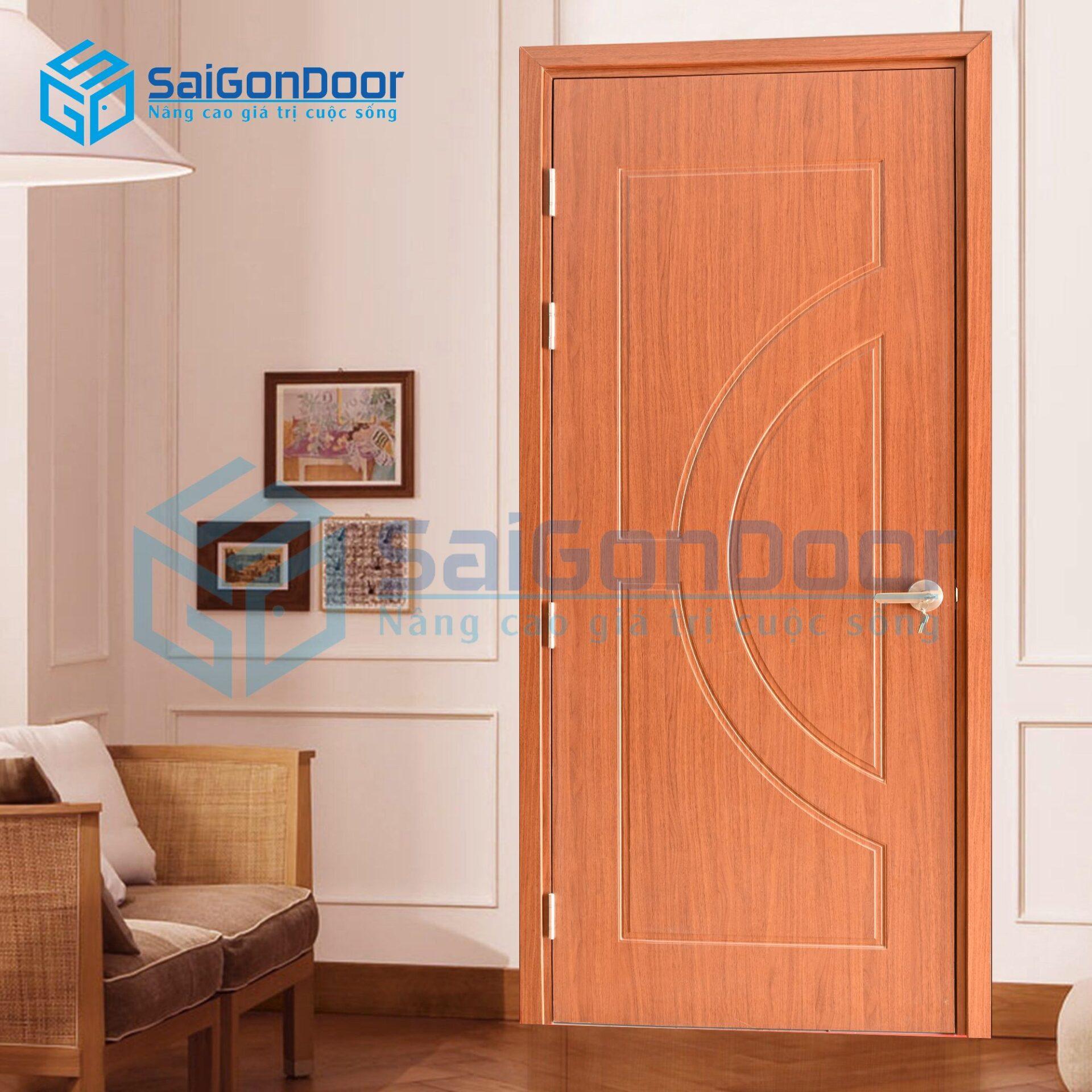 Mẫu cửa nhựa Composite phòng ngủ cách âm SYB.752-Ash