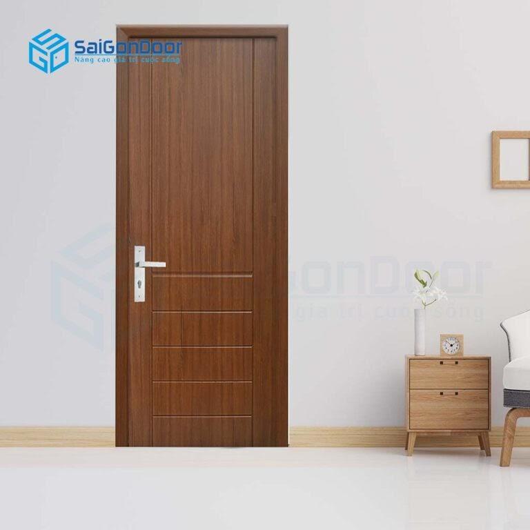 Cửa phòng ngủ do SaiGonDoor thi công chắc chắn, đẹp, vận hành êm ái