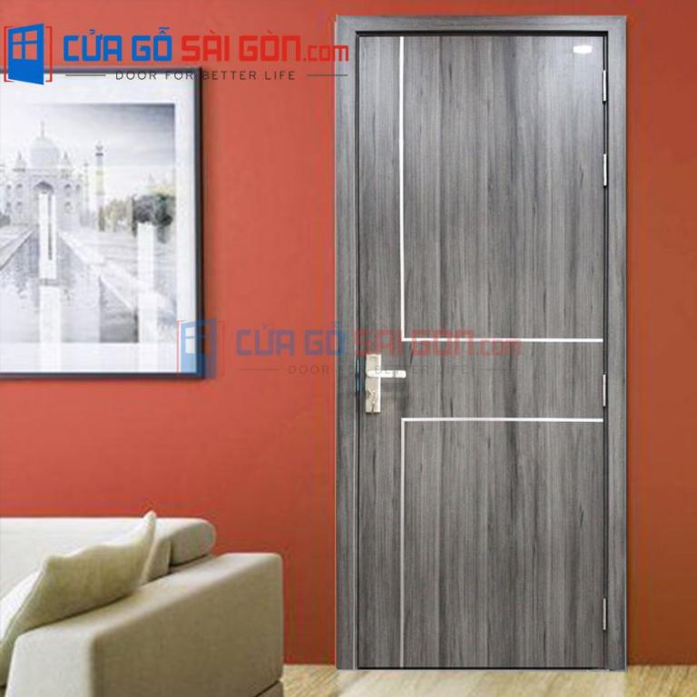 Mẫu cửa gỗ tự nhiên 2 cánh cho không gian đẳng cấp, khác biệt